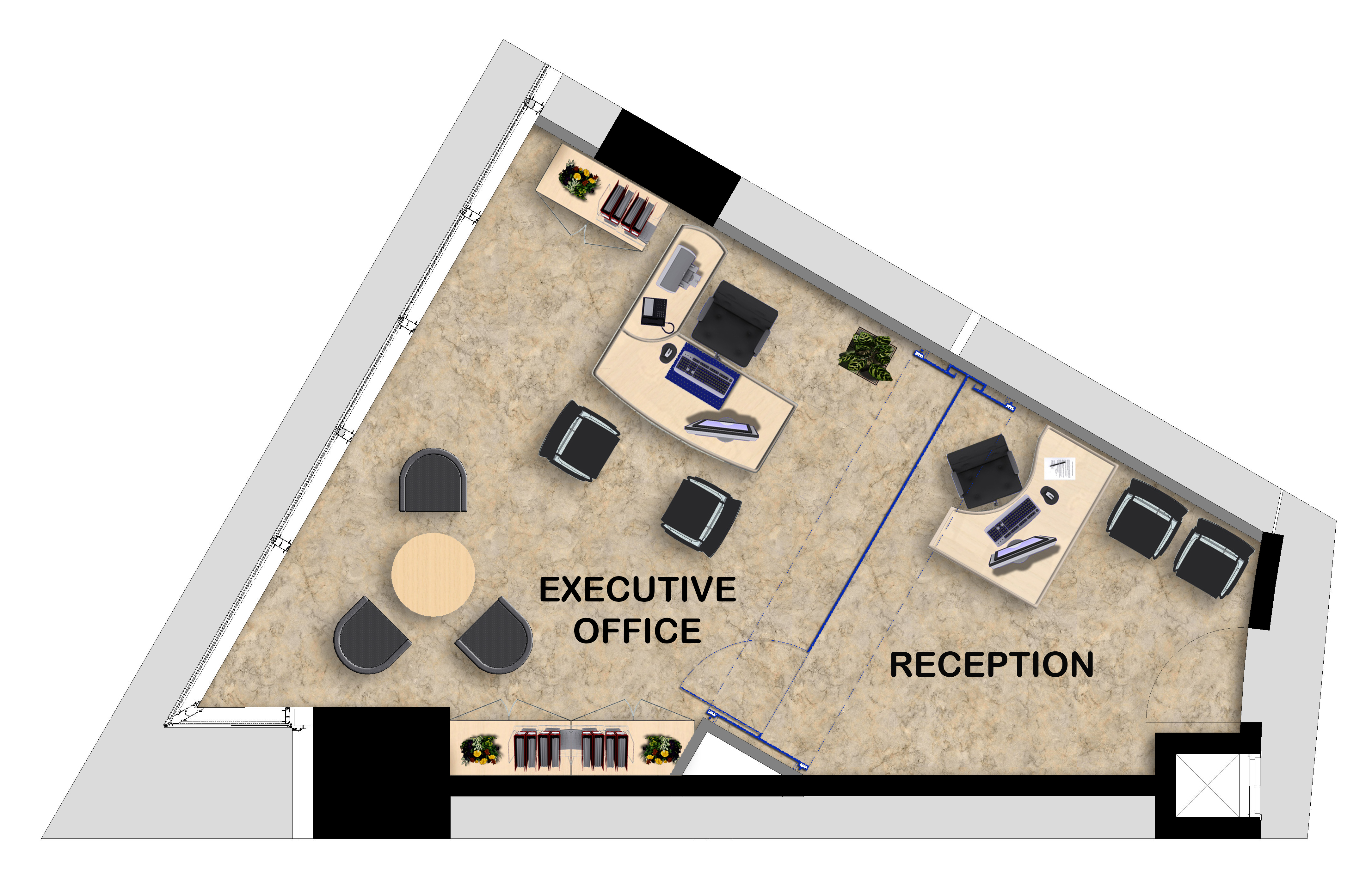Serviced offices abcn for Office floor plan app